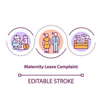 Maternity leave complaint concept icon
