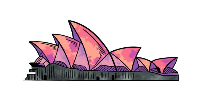 architecture, opera, sydney, house, red, purple - D38874586