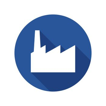 Industrial factory flat icon