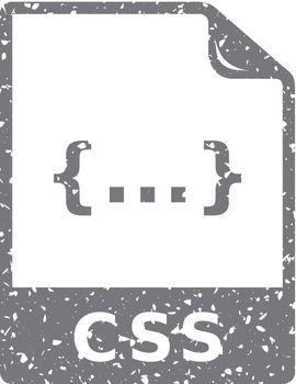 Grunge icon - CSS file format
