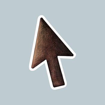 Vector cursor brown clipart sticker