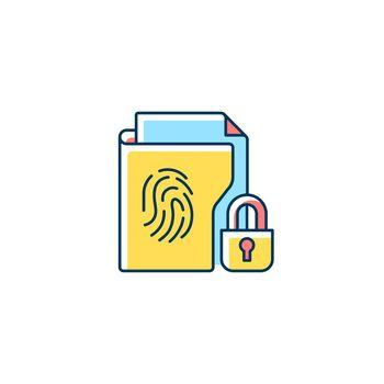 Sensitive information protection RGB color icon