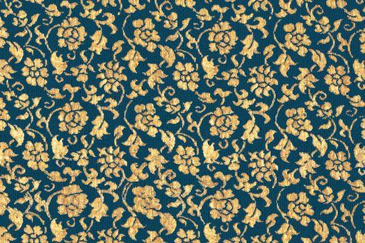 Vintage gold floral pattern background vector, featuring public domain artworks