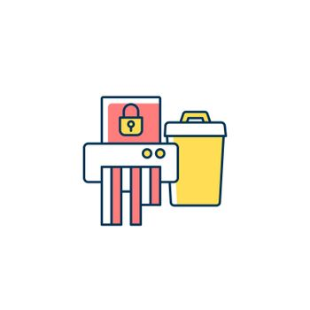 Sensitive information disposal RGB color icon