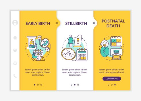 Maternity leave entitlement cases onboarding vector template