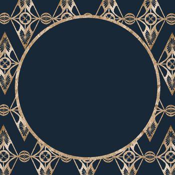 Vintage gold glitter frame vector, remix from artworks by Samuel Jessurun de Mesquita