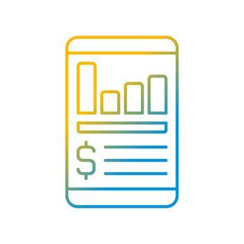 Expense tracker app gradient linear vector icon