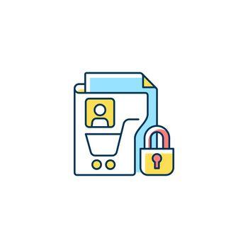 Consumer data privacy RGB color icon