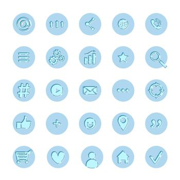 A set of informative icons