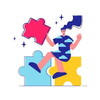 Puzzle Idea Brainstorm Composition