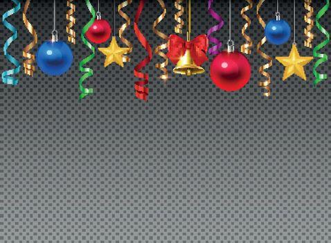 Christmas Decoration Transparent Composition