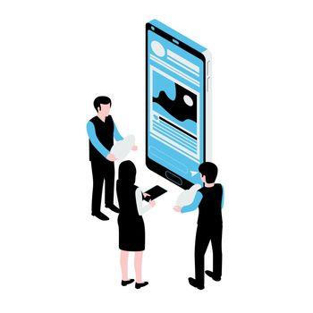 Isometric Social Media