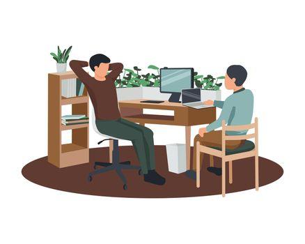 Eco Futuristic Workplace Composition