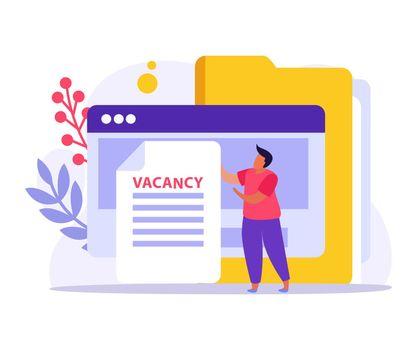 Vacancy Flat Icon