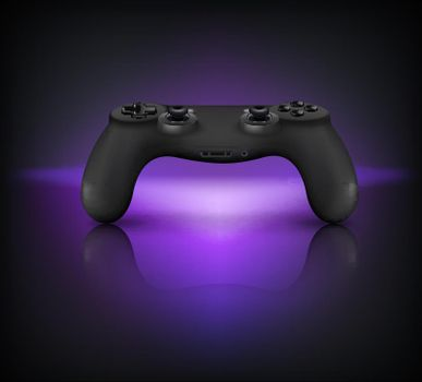 Gaming Gamepad Realistic Composition
