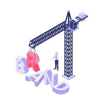 Brand Isometric Concept
