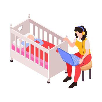 Mum Isometric Icon