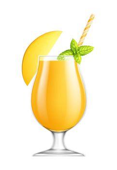 Mango Juice Illustration