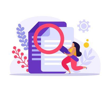 Flat Job Search Icon