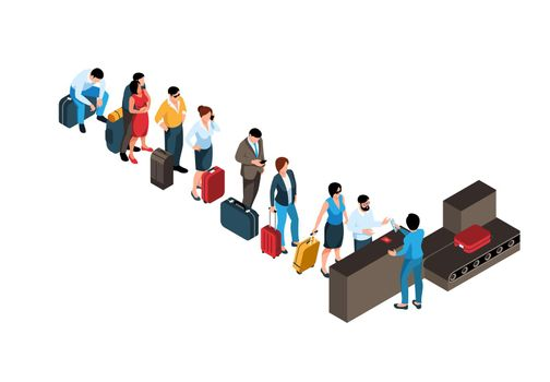 Airport Check-In Composition