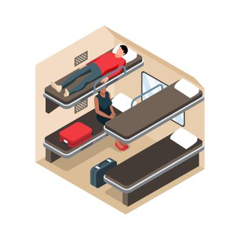 Train Section Isometric Composition