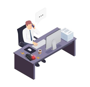 Busy Worker Icon