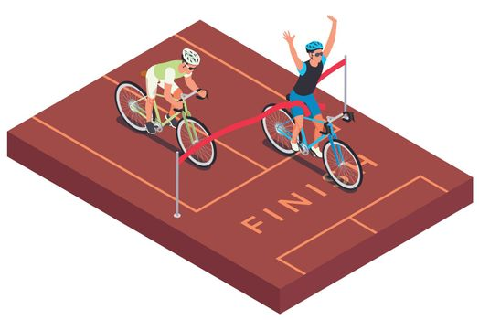 Cycling Finish Line Composition
