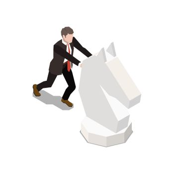 Leadership Isometric Icon
