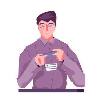 Flat Remote Control Illustration