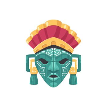 Scary Maya Mask Composition