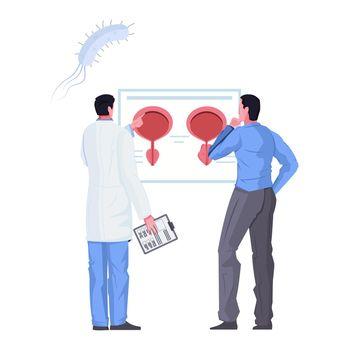 Andrologist Flat Illustration