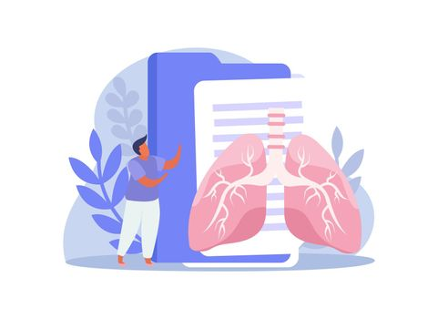Lungs And Folders Composition