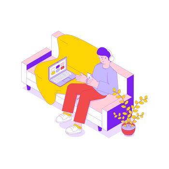 Man Listening Music Icon