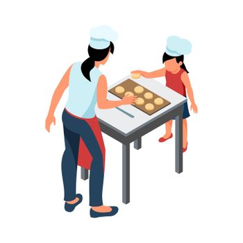 Cooking Isometric Illustration