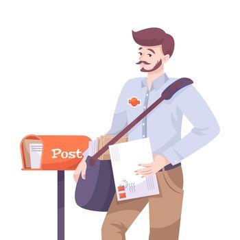 Postman Flat Illustration