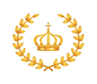Royal Crown Symbol Composition