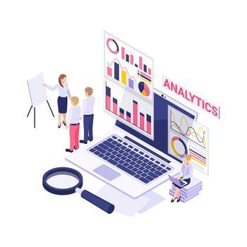 Analytics Isometric Icon