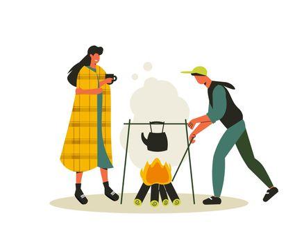 Bonfire Water Boiling Composition