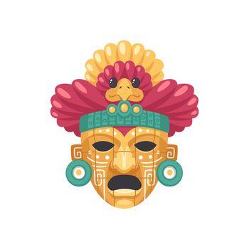 Maya Bird Mask Composition