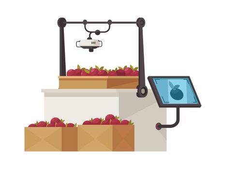 Flat Smart Farm Icon