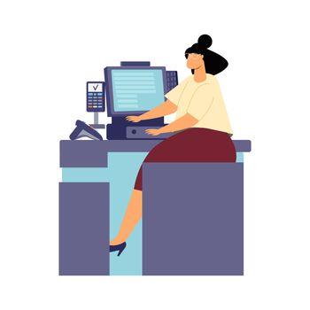 Cashier Desk Icon