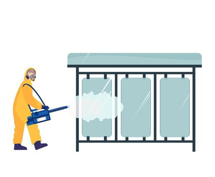 Cleaning Streets Illustration
