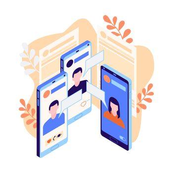 Isometric Social Media Icon
