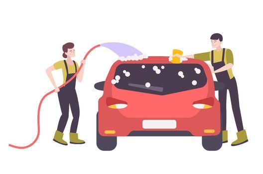Car Washing Illustration