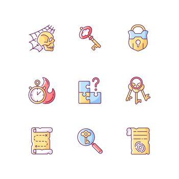 Quest RGB color icons set