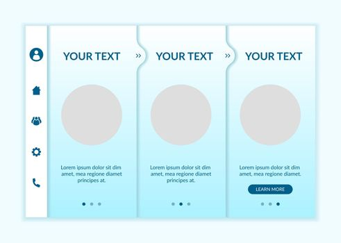 E-learning onboarding vector template