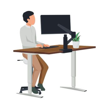 Modern Comfortable Workplace Composition