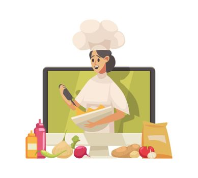 Cooking Blogger Illustration