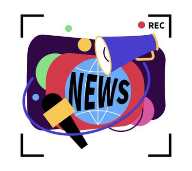 News Flat Composition