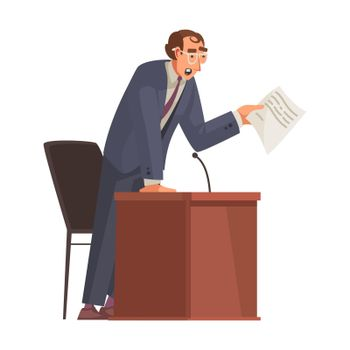 Speaking Lawyer Isometric Composition